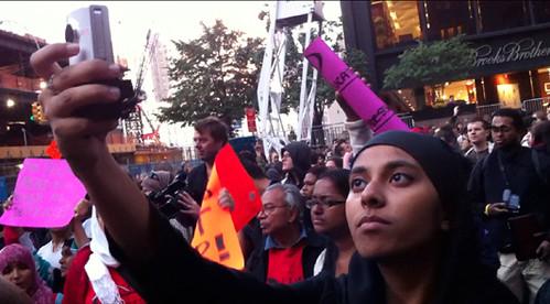 w_muslim woman in OWS
