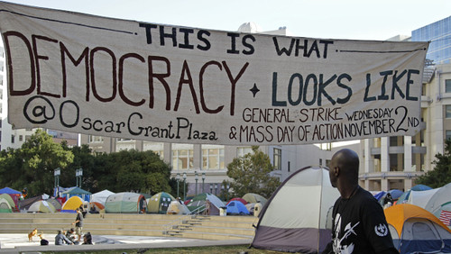 Occupy Oakland has appealed to the labor movement and the community to launch a general strike on November 2, 2011. This is in response to the attacks on the movement by the city administration. by Pan-African News Wire File Photos