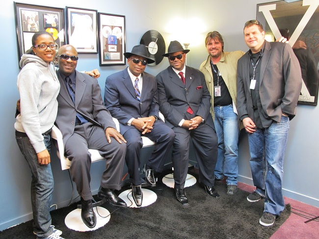 Ashley Battle, Jerome Benton,Terry Lewis, Jimmy Jam, Norbert, and Christian