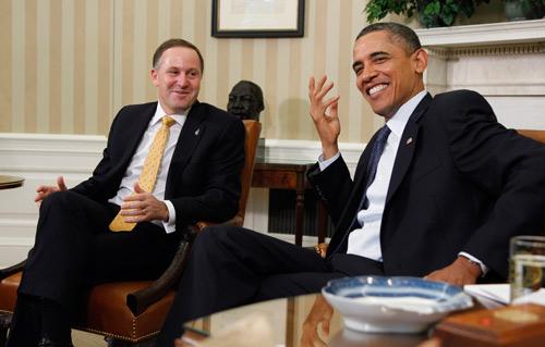 Prime Minister John Key with President Obama.
