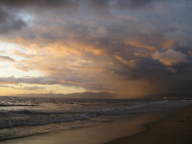 Santa Monica Rain at Sunset