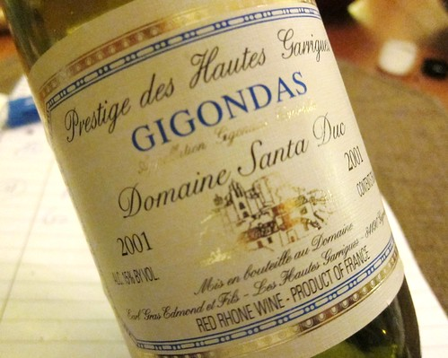 2001 Gigondas Domaine Santa Duc