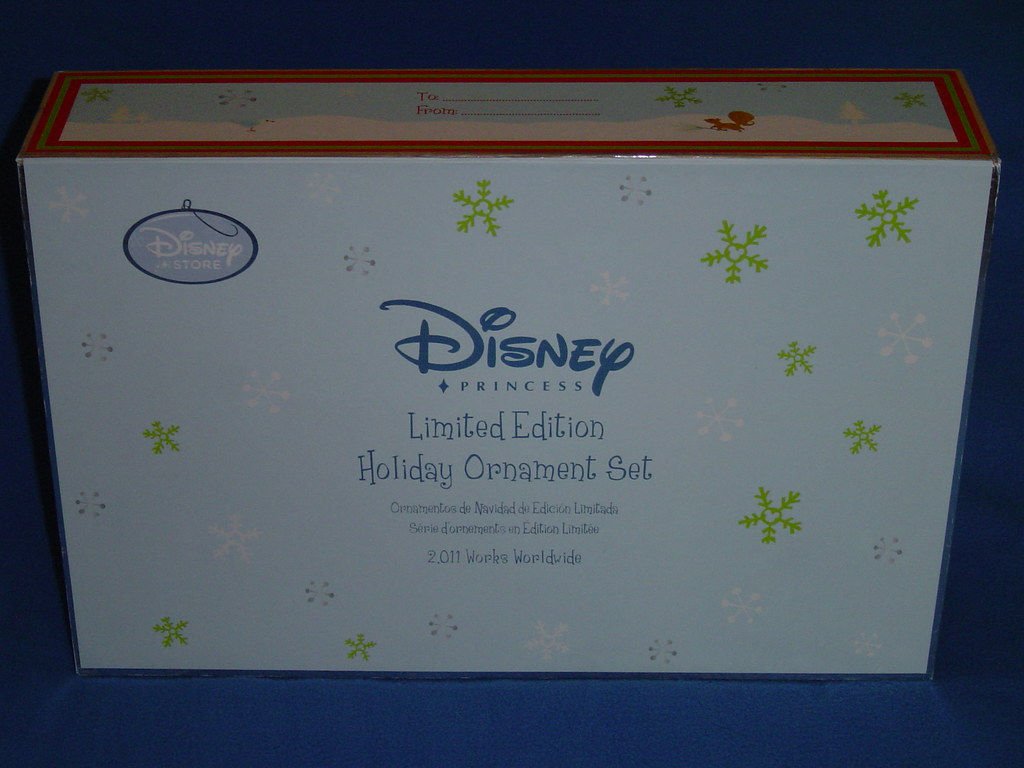 Limited Edition Disney Princess Ornament Set - Box Top and Side