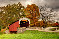 Searching for Yesterday (Ireena Eleonora Worthy) Tags: autumn colour pennsylvania pa coveredbridge lititz pennsylvaniadutchcountry northernstraitsphotography