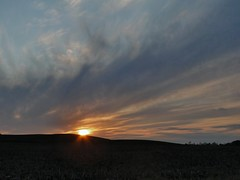 After a Beautiful Day... (cindy47452) Tags: sunset sky sun sol clouds evening indiana orangecounty hillside dschx1