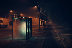 Naked Woman Waiting For Bus (lukas kozmus) Tags: light woman bus berlin fog germany naked deutschland photography 50mm licht photo foto fotografie minolta sony herbst picture pic stop commercial lukas alpha bild werbung 700 bushaltestelle available autmn 2011 a700 flickrchallengegroup flickrchallengewinner kozmus lukaskozmus
