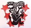 krampus detail (craftyhag) Tags: christmas card german linocut legend rubberstamp krampus