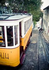 just a short tram ride away (marin.tomic) Tags: street city travel urban portugal europe kodak lisboa lisbon tram explore lissabon portuguese electrico tramride elevadordaglória