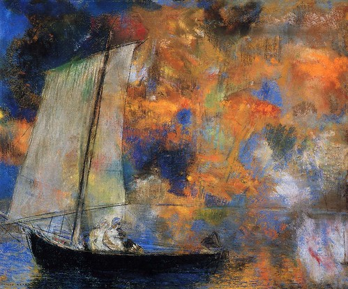 Odilon Redon - Flower Clouds [c.1903] by Gandalf's Gallery
