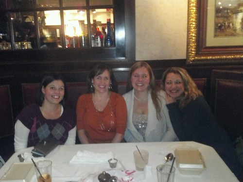 Melissa, me, Andrea, & Sam at dinner