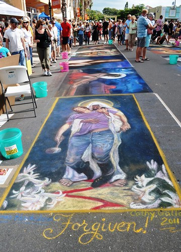 "Day 6 of the Chalk Festival in Sarasota, Fla., ""Forgiven"", Nov. 6, 2011"