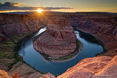 Horseshoe Bend - Colorado (Maurizio Fontana) Tags: california road park trees sunset sea arizona sky panorama horse cliff parco usa cloud mountain lake color reflection tree water alberi clouds america sunrise trekking reflections river subway landscape lago shoe mirror utah sand nikon gate colorado strada tramonto nuvole mare nuvola desert alba sale united nevada fiume salt tunnel trail american cielo page zion states terra roccia albero acqua colori riflessi paesaggi montagna uniti paesaggio deserto specchio sabbia parchi tufo riflesso d300 canion stati