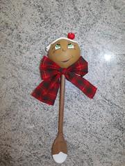 E que venha o natal... (La Bambina Biscuit) Tags: natal ginger biscuit manual decoração colher enfeite artesanto porcelanafria