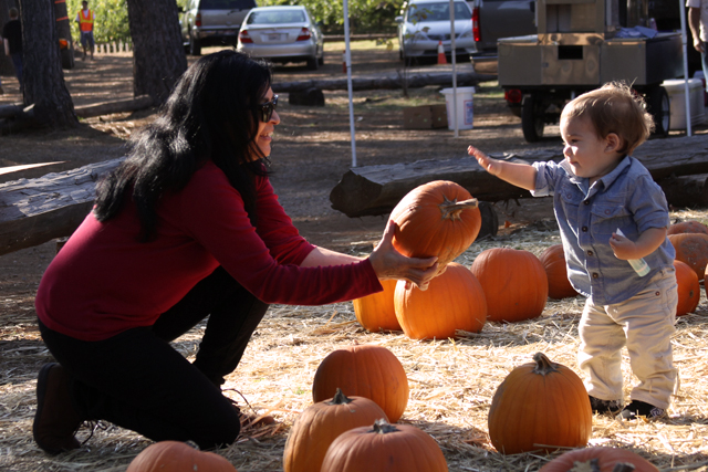 grandma and jc in pumpkin patch2