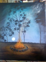 Rod Lucas, Acrylic Painting 3 (ABC Open North West Queensland) Tags: artist northwest paintings eucalypt queensland gumtrees gulfofcarpentaria karumba indigenousartist outbacklandscape rodlucas outbackartist