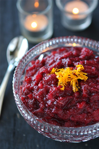 Apple & Cranberry Sauce with Orange & Crystallized Ginger Recipe