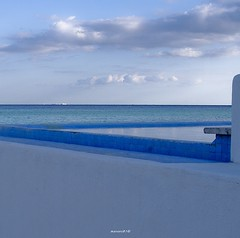even horizon (manoni81) Tags: blue seascape geometry caribbean bluestblue greatphotographers colorphotoaward