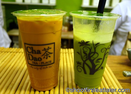 Cha Yen and Green Tea milk teas