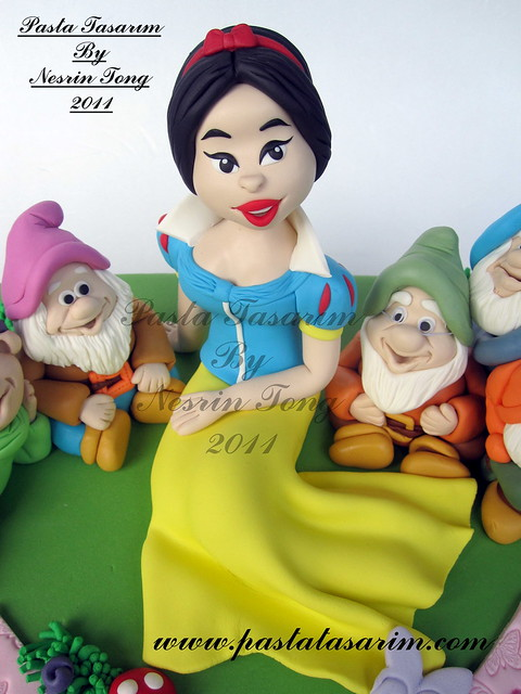 Snow White and 7 Dwarfs cake - TUGCE BIRTHDAY