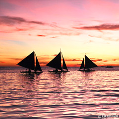 Boracay, Philippines (Ed Kruger) Tags: ocean travel pink blue sunset red sea sky people orange sun holiday seascape reflection water sunshine silhouette yellow clouds evening boat fishing fisherman october asia southeastasia waves ship asians fishermen yacht horizon philippines wave sunny vessel boating boracay fishingboat allrightsreserved admiralty caticlan banka yachting skyphoto cargoship 2011 travelasia peopleofasia asiancities shipphoto edkruger asiancountries photoofocean cultureofasia photosofasia photosofthesky