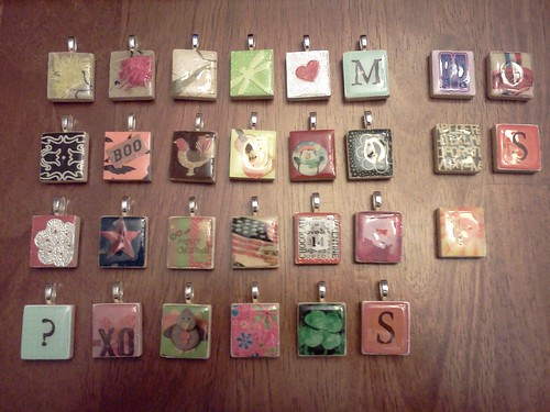 Build sew reap scrabble tile pendants all tiles aloadofball Image collections