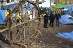 """Occupy Toronto - Eviction Notice Day (lo.kwe) Tags: toronto beautiful contrast police loretta stjamespark lime woven contrasts officer twine dreamcatcher 2011 occupy bilaw occupytoronto lorettalime """"occupytoronto"""" """"occupyto"""""""