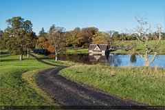 The Boat House in Autumn (bbusschots) Tags: ireland history path carton boathouse maynooth pathway topaz kildare localhistory historicbuilding cartonestate topazadjust