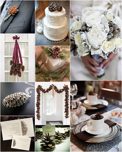Pinecone wedding style inspiration