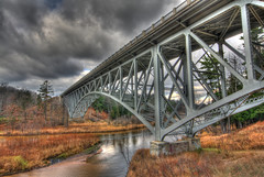 The bridge near Wellston - Explored (Notkalvin) Tags: bridge michigan explore hdr ohwell manisteecounty flickrexplore explored pineriver 9images mikekline michaelkline wellson ourdailychallenge notkalvin thebridgedoesnotseemtohaveaname notkalvinphotography
