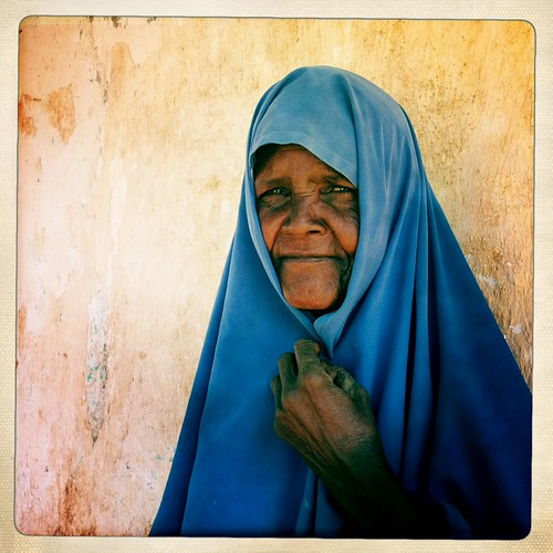 Old woman in hipstamatic - Somaliland