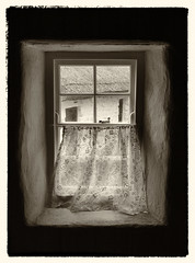 Lace Curtains (Feldore) Tags: park old ireland house window look vintage view folk lace antique farm curtains homestead northern mchugh omagh ulsteramerican feldore