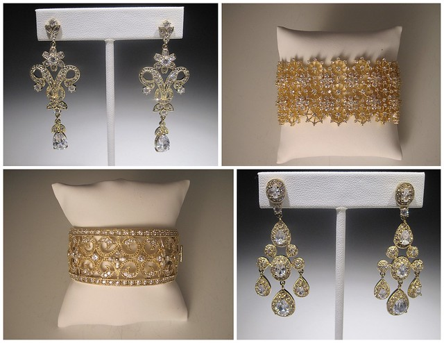 Gold jewelry at Bridal Styles Boutique