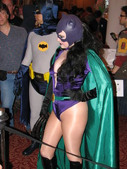 1960's TV Batman and Silver Age Catwoman at Super Megafest 2011 (FranMoff) Tags: costume batman catwoman supermegafest