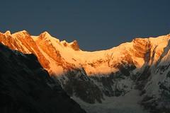 The reward (Leoniedas) Tags: nepal mountains sunrise asia glacier himalaya annapurna sanctuary basecamp