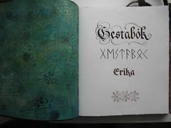 Guest-book, the first page (IzabelaP) Tags: calligraphy gestabk skrautskrift
