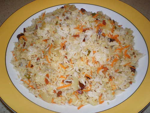 Spicy Indian Rice with Toasted Almonds