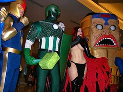 Nova, Super-Adaptoid, Mister Sinister, Goblin Queen, MODOK (BelleChere) Tags: atlanta nova costume geek cosplay harrypotter convention marvel dragoncon siriusblack modok madelynepryor goblinqueen yuleball mistersinister superadaptoid bellatrixlestrange