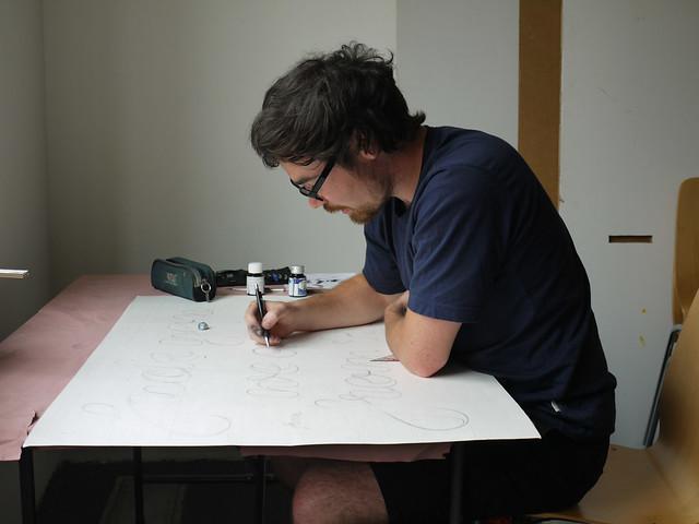 Falk, drawing
