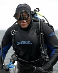 Diver Ted Watler - Olympus E-410 - 40-150mm F/4.0-5.6 (divewizard) Tags: california portrait club digital boat peace dive scuba diving olympus diver dslr zuiko 43 dlsr zd anacapaisland fourthirds 40150mm f4056 diveclub e410 seadivers ventturacounty