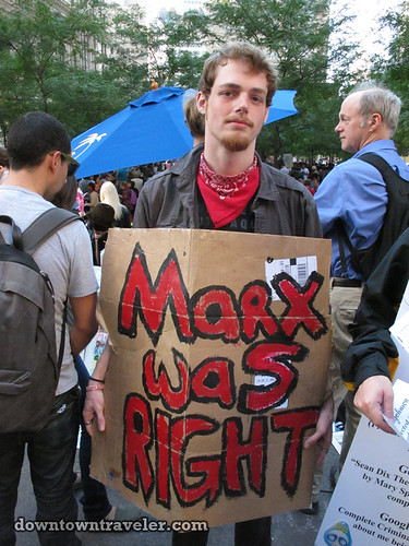 NYC Occupy Wall Street Rally Oct 8 2011 marx sign