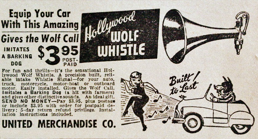 1948 Wolf Whistle Ad