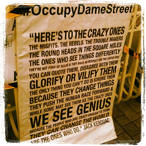#15m #protest #dublin #occupydamestreet #Kerouac by Gribers