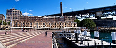 Darling Harbour Panorama (Life with Jordy) Tags: bridge urban panorama sydney streetphotography australia newsouthwales darlingharbour restaraunts sydneyharbourbridge panasonicdmcfz30 petejordan lifewithjordy ©lifewithjordyphotography