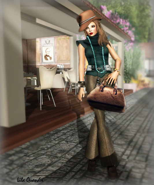 CHANTKARE KATCHA SWEATER  & Izzie's - Tweed Pants tan