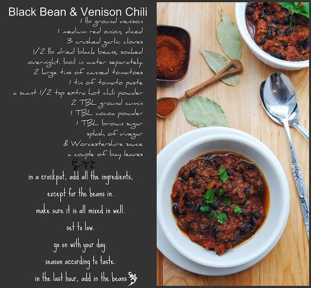 black Beans & Venison Chili
