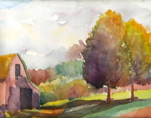 Plein air landscape, Vermont