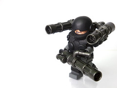 Heavy v2 ([N]atsty) Tags: green war gun lego trench minifig machete nam minigun browning minifigure brickrms