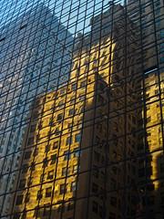 morgensonne (boris bauer) Tags: blue windows usa newyork reflection glass yellow america skyscraper mirror highrise chryslerbuilding