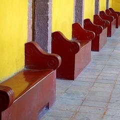red row (msdonnalee) Tags: bench mexico furniture seat silla mexique seating sedia chaise stuhl stonebench mexiko cadeira 椅子 haveaseat redbench takealoadoff стул كرسي photosfromsanmigueldeallende fotosdesanmigueldeallende