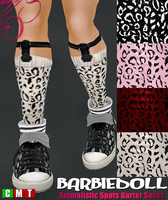 BARBIEDOLL Animalistic Spots Garter Socks